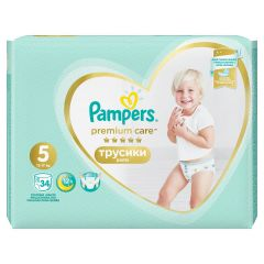 Пелени - гащички Pampers Premium Care Pants Размер 5 34 бр