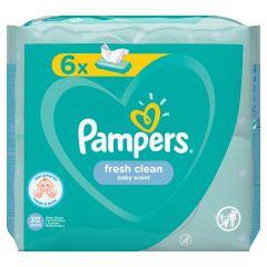 Pampers Fresh Clean Baby Scent Бебешки мокри кърпички 6x52 бр