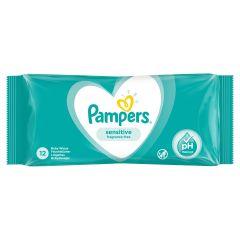Pampers Sensitive Fragrance Free Бебешки мокри кърпички 12 бр