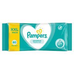 Pampers Sensitive Fragrance Free Бебешки мокри кърпички 80 бр