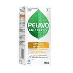 Пелаво Грипактив сироп Бронхи и гърло x120 мл US Pharmacia