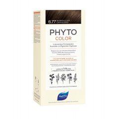 Phyto Phytocolor Безамонячна боя за коса 6.77 Светло Кестеняв Капучино /Marron Clair Cappuccino