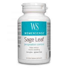 Natural Factors Sage Leaf/Feuille Градински чай срещу прекомерно изпотяване 350 мг х 60 капсули