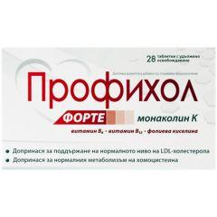 NaturProdukt Профихол форте за поддържане на нормален холестерол x28 таблетки