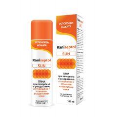 NaturProdukt Raniseptol Sun Пяна с пантенол при зачервена и раздразнена кожа х150 мл