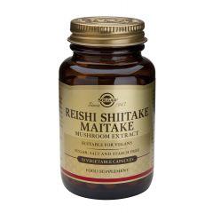 Solgar Reishi, Shiitake, Maitake Mushroom Extract Рейши Шийтаке Мейтаке за висок имунитет х50 капсули