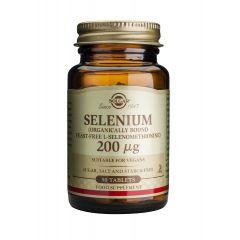 Solgar Selenium Селен за нормална функция на щитовидната жлеза 200 мкг x50 капсули