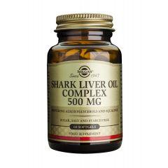 Solgar Shark Liver Oil Complex Мaсло от черен дроб на акула за висок имунитет 500 мг х60 капсули