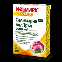 Walmark Plus Силимарин Макс Бял трън за здравето на черния дроб 7000 мг х 30 таблетки