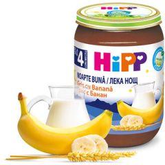 """Hipp био млечна каша """"Лека нощ"""" с грис и банан 4М+ 190 гр"""