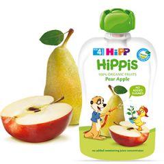 Hipp Hippis забавна закуска ябълка и круша 4М+ 100 гр
