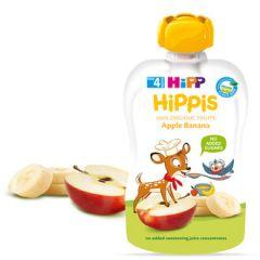 Hipp Hippis забавна закуска ябълка и банан 4М+ 100 гр
