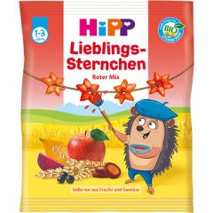Hipp Lieblings - Sternchen био хрупкави звездички със зеленчуци и пловоде 30 гр
