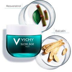 Vichy Slow Age Нощен освежаващ крем-маска 2в1 50 мл