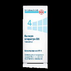 Dr. Schuessler Salts Шуслерова сол №4 Калиум хлоратум D6 при прогресиращи остри възпаления x200 таблетки