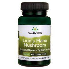 Swanson Lion's Мane Мushroom Гъба Лъвска грива 500 мг х 60 капсули
