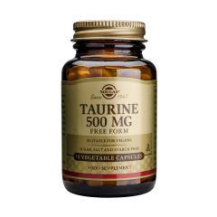 Solgar Taurine Таурин подпомага мозъка и сърцето 500 мг х50 капсули