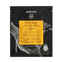 Apivita Express Beauty Стягаща и повдигаща шийт маска за лице с ароматна смола мастикс 15 мл