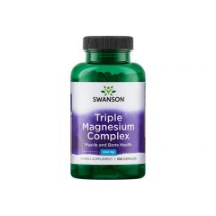 Swanson Triple Magnesium Complex Троен магнезиев комплекс 400 мг х100 капсули