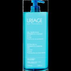 Uriage Surgras Пенлив почистващ гел за лице и тяло за чувствителна кожа 1000 мл