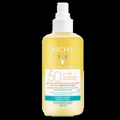 Vichy Ideal Soleil Слънцезащитна вода за лице и тяло с хидратиращ ефект SPF50 200 мл