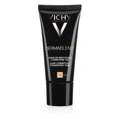 VichyDermablend Коригиращ фон дьо тен флуид за нормална до смесена кожа 15 опал SPF35 30 мл