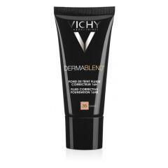 VichyDermablend Коригиращ фон дьо тен флуид за нормална до смесена кожа 35 пясъчен SPF35 30 мл