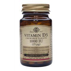 Solgar Vitamin D3 Витамин D3 за имунната система 1000IU х100 таблетки