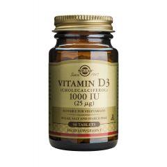 Solgar Vitamin D3 Витамин D3 за здрава костна система 1000IU x90 таблетки
