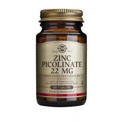 Solgar Zinc Picolinate Цинк пиколинат укрепва имунната система 22 мг х100 таблетки